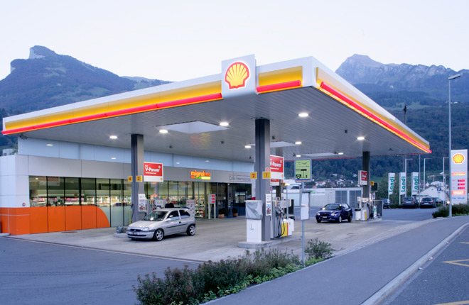 Tankstelle Shell Truebbach